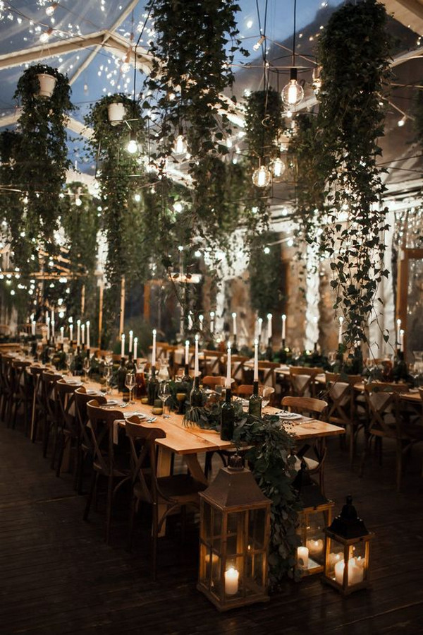 boho garden themed wedding reception ideas