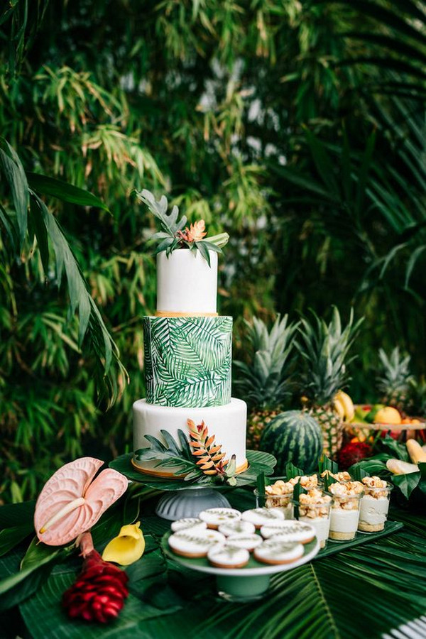 brilliant tropical wedding cake ideas