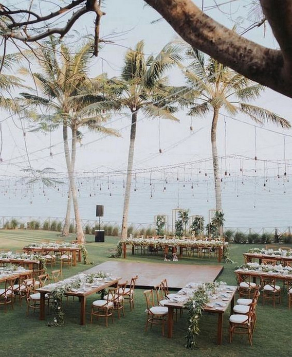 chic beach wedding reception ideas