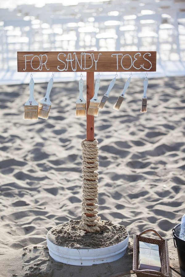 creative wedding sign for beach wedding ideas