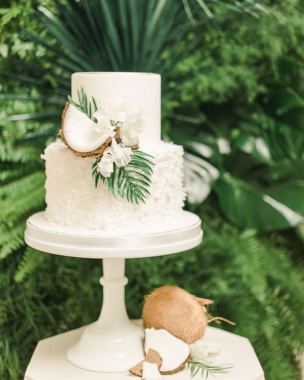 elegant tropical wedding ideas with coconut