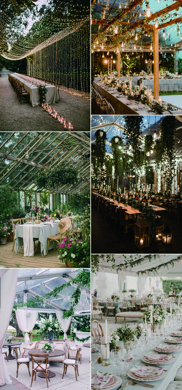 garden themed wedding reception decoration ideas