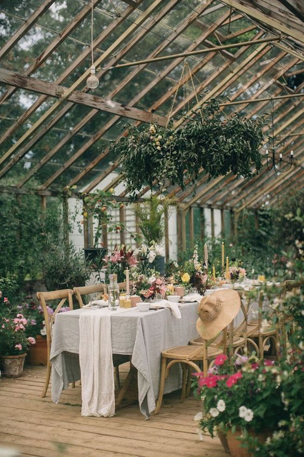 garden themed wedding reception ideas