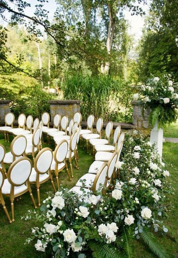 garden wedding ceremony decoration ideas