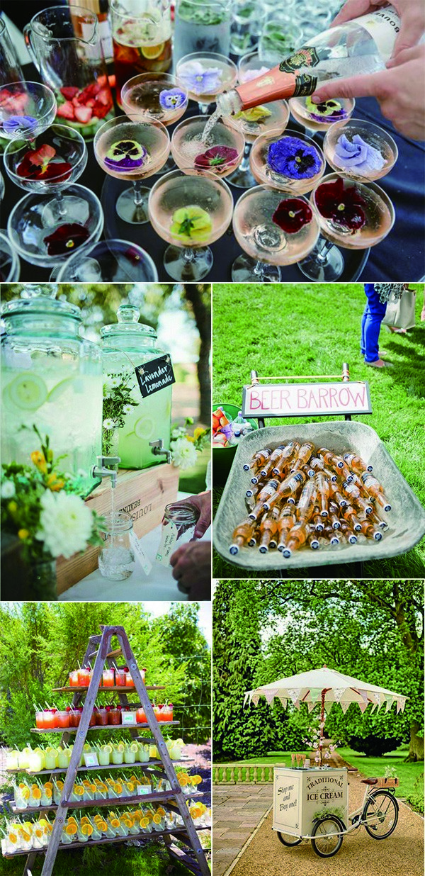garden wedding drink station bar ideas