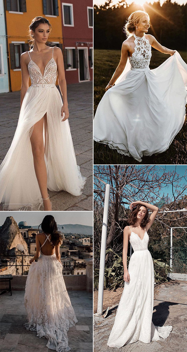 gorgeous beach wedding dresses