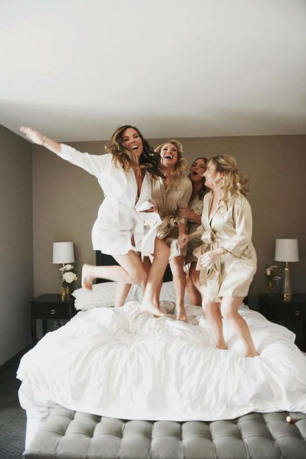 have fun wedding photo ideas with bridesmaids