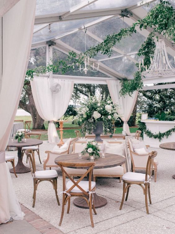 intimate tented garden wedding reception ideas