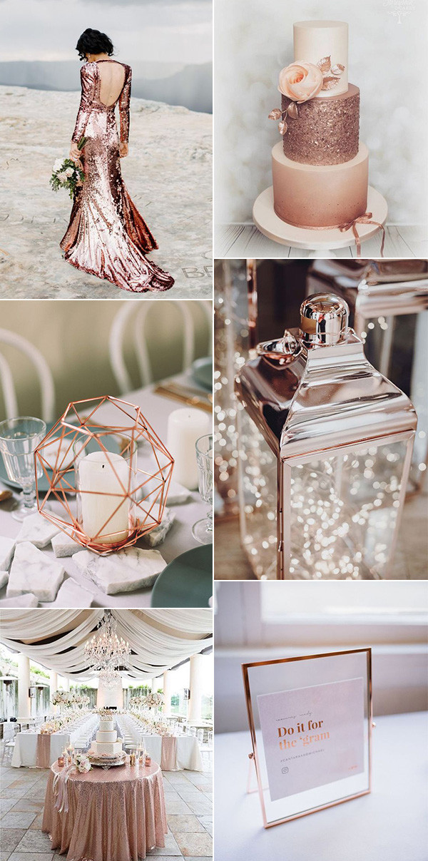 modern chic rose gold wedding ideas