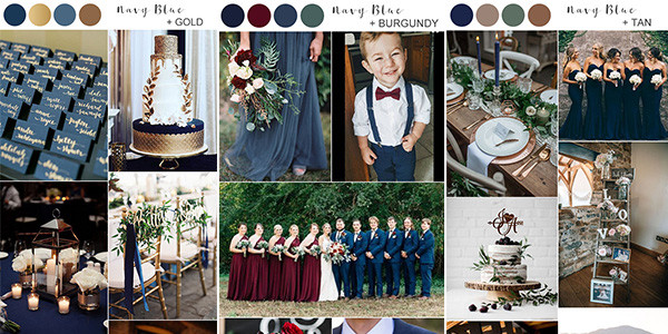 navy blue wedding colors