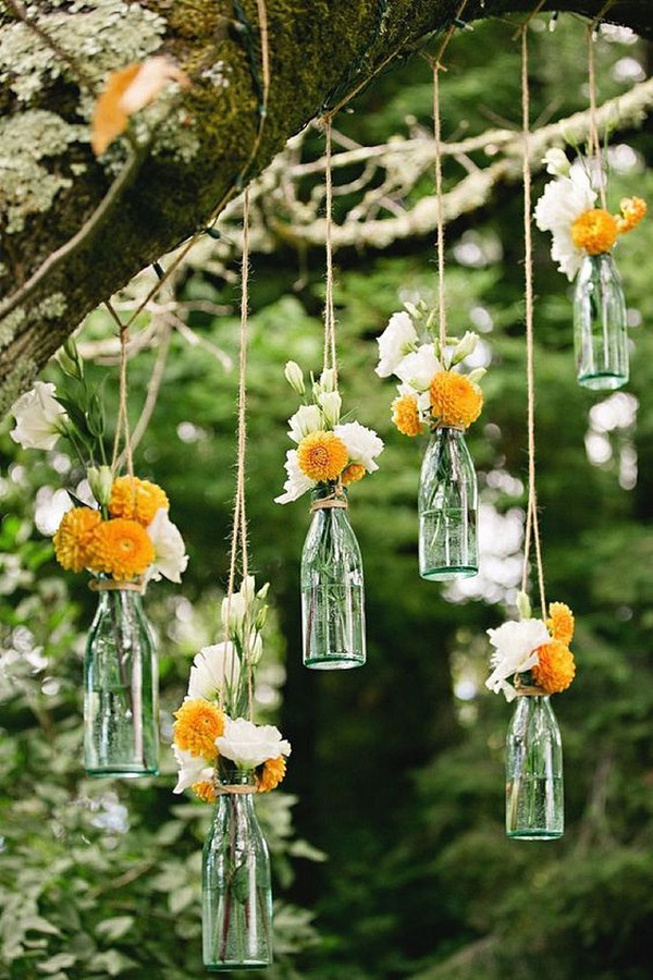 outdoor wedding hanging decoration ideas