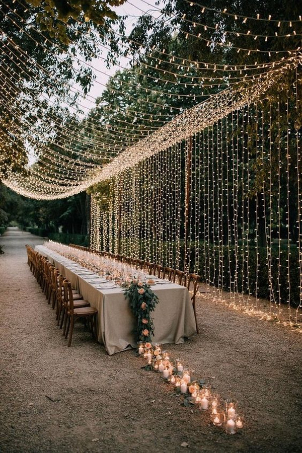 outdoor wedding reception lighting ideas