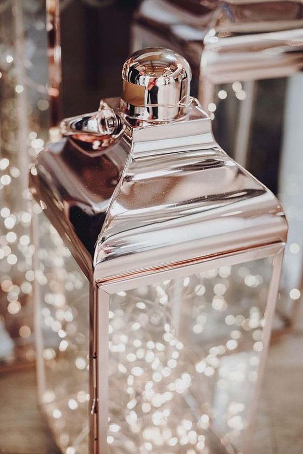 rose gold lantern wedding decoration ideas