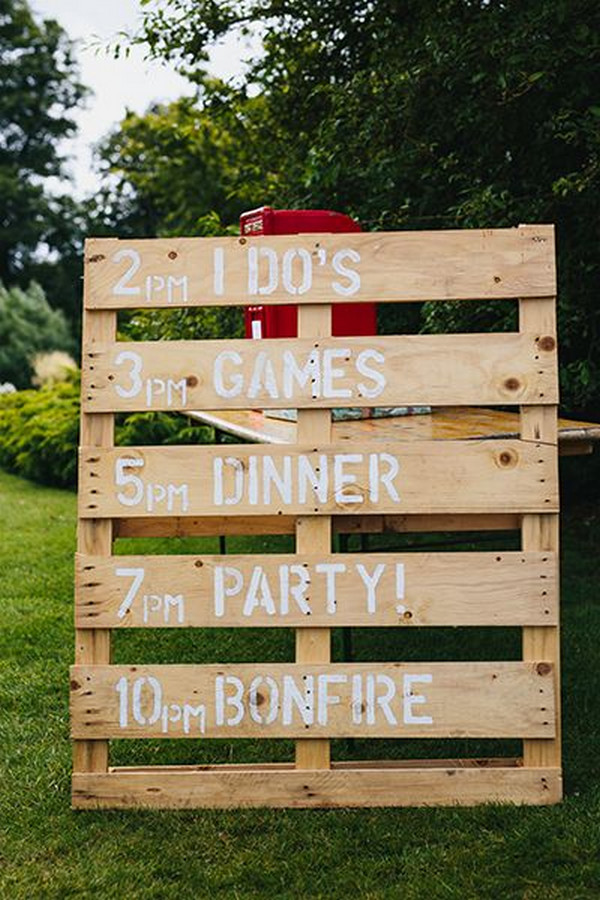 rustic wood country wedding sign ideas