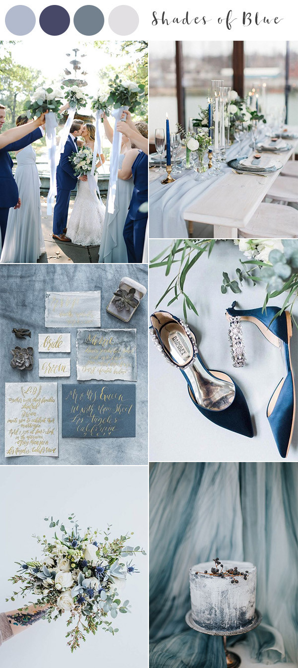 shades of blue wedding color ideas