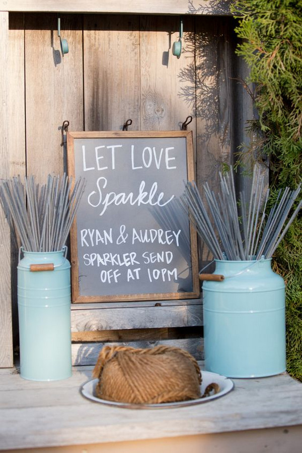 sparklers send off country wedding ideas