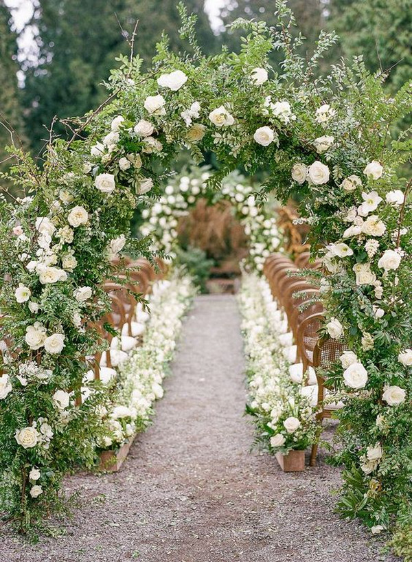 stunning garden themed wedding ceremony ideas