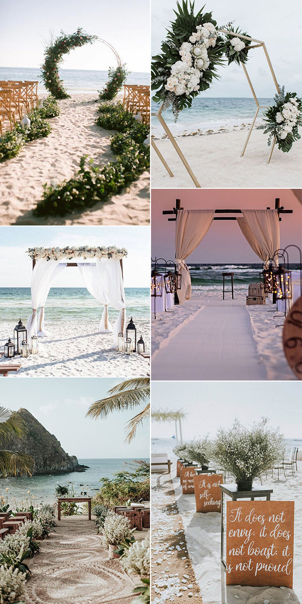trending beach wedding ceremony ideas for 2020