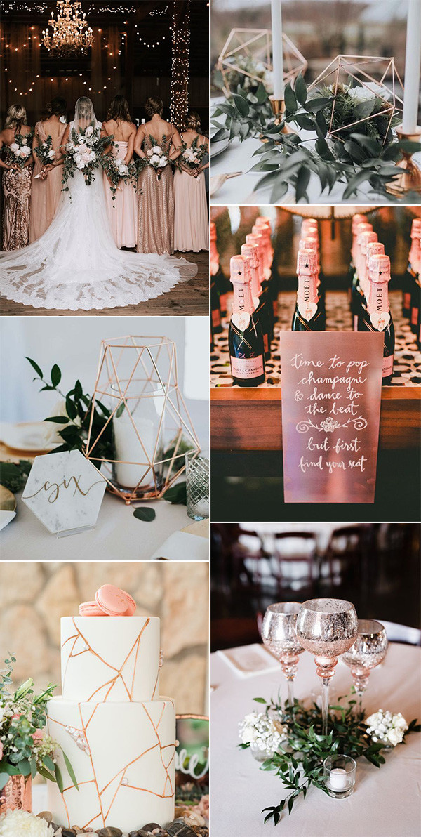 trending rose gold wedding ideas for 2020