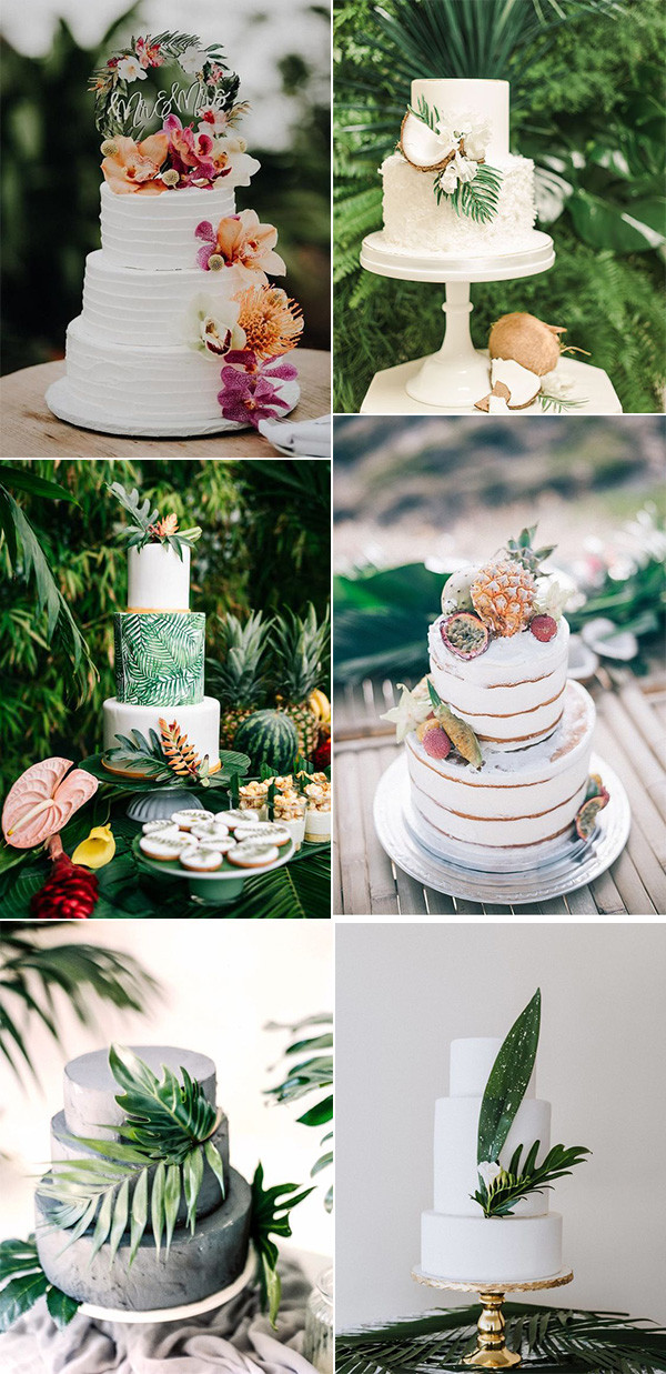 trending tropical wedding cakes