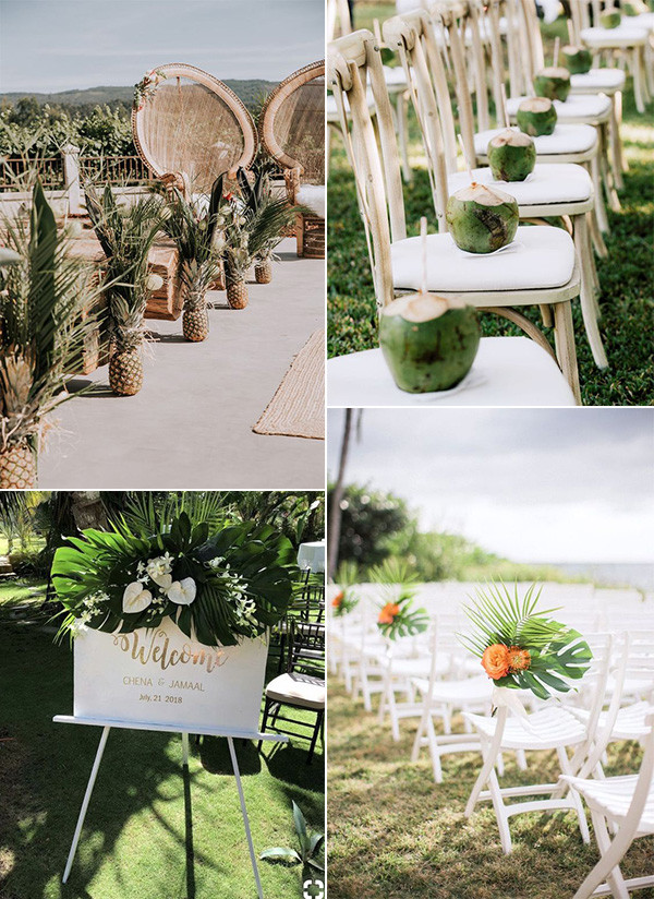 tropical themed wedding ceremony ideas