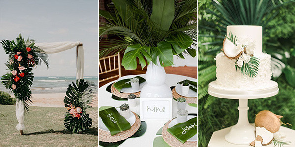Trending 28 Tropical Themed Wedding Ideas For 2020 Emmalovesweddings This elegant tropical wedding is crisp, clean, and has a color scheme inspired by coconuts; trending 28 tropical themed wedding