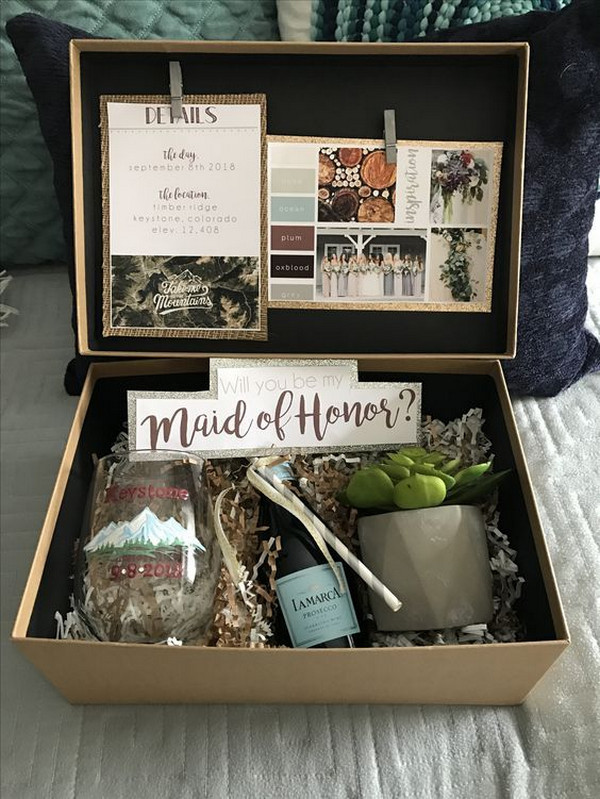 DIY bridesmaid proposal gift box ideas