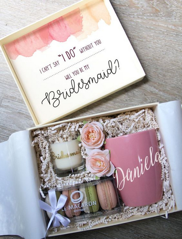 bridesmaid proposal ideas gift box