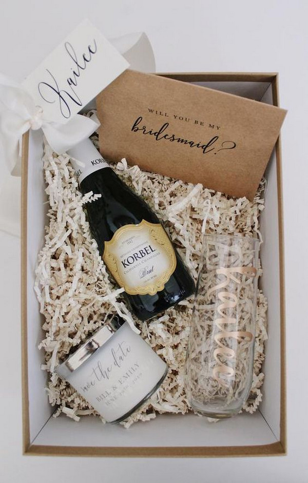chic bridesmaid proposal gift box ideas