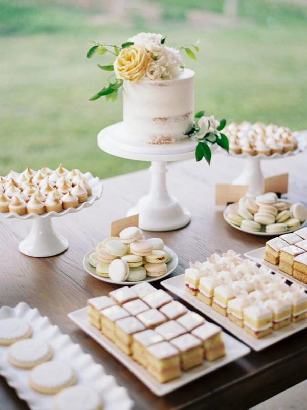 elegant outdoor wedding dessert bar ideas