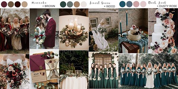 fall wedding colors 2020