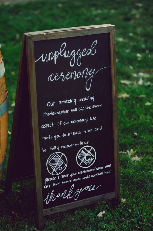 outdoor chalkboard wedding sign ideas