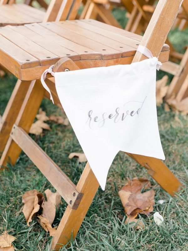 rustic wedding ceremony reserved sign ideas
