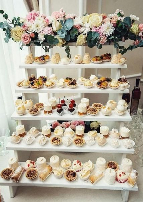 sweet simple wedding dessert display ideas