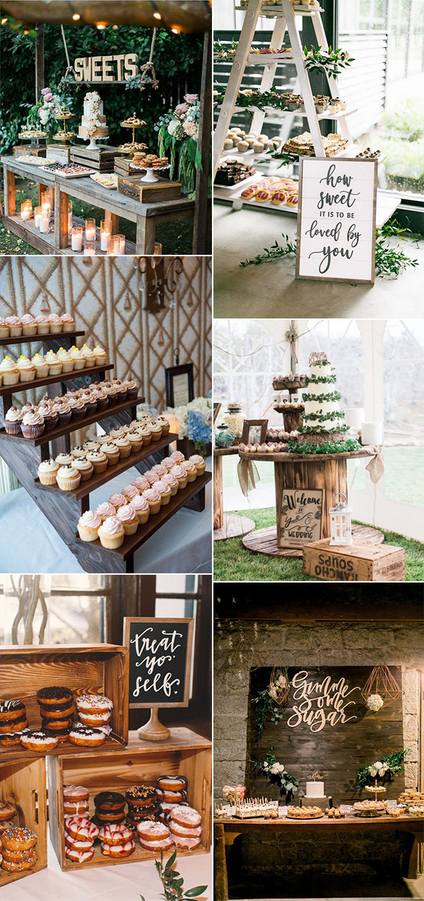 trending chic wedding dessert table display ideas