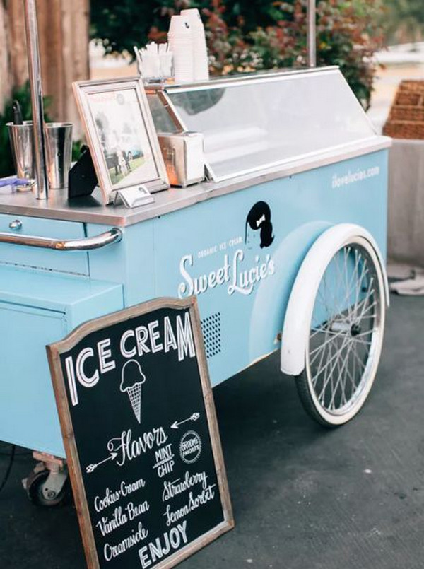 vintage wedding dessert display ideas ice cream