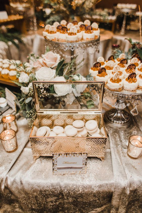 vintage wedding dessert table ideas