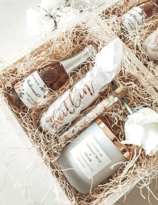 wedding bridesmaid proposal gift box ideas