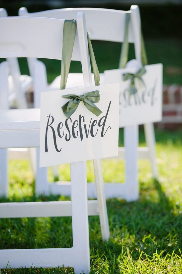wedding ceremony reserved sign ideas