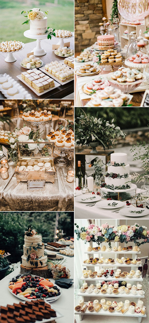 wedding reception dessert table display ideas for 2020