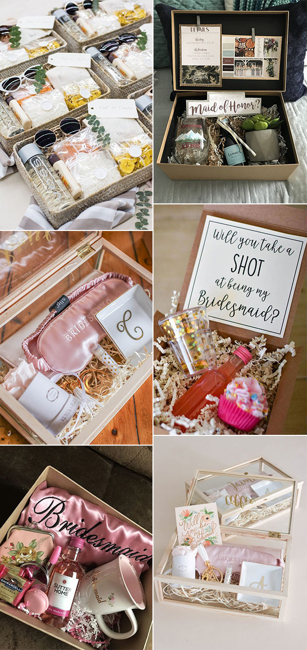 will you be my bridesmaid proposal gift box ideas for 2020
