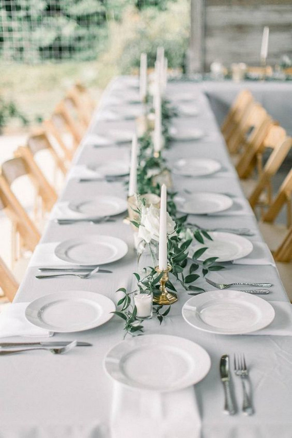 modern chic simple wedding table setting ideas
