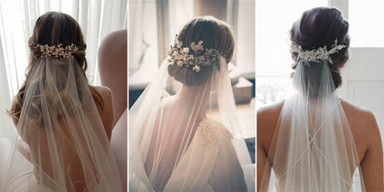 trending wedding hairstyles with veils