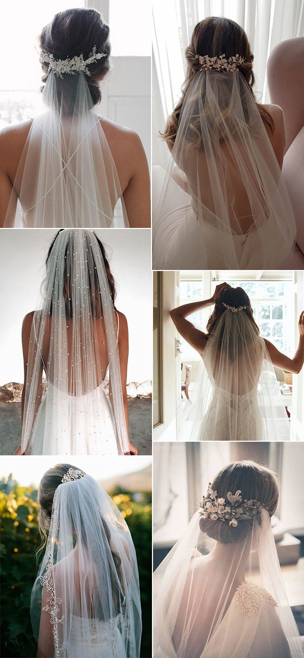 trending wedding hairstyles with veils for 2020