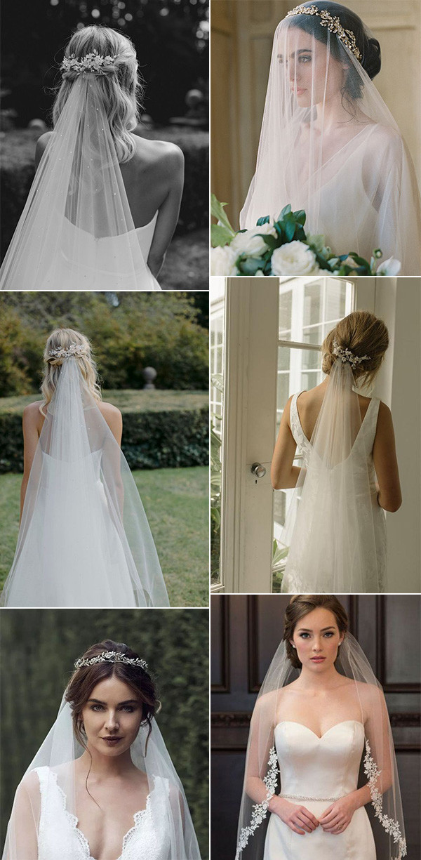 wedding hairstyles with veils and accessories for 2020