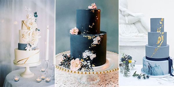 White Wedding Cake With Blue Flowers Wedding Cake Flowers Blue