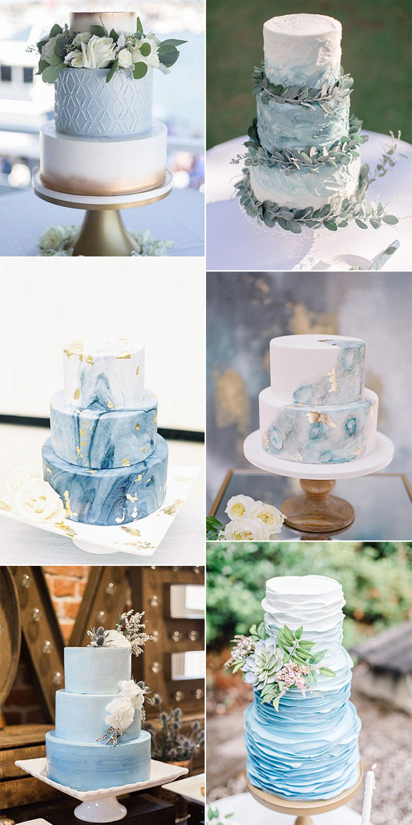 light blue wedding cakes for 2020 trends