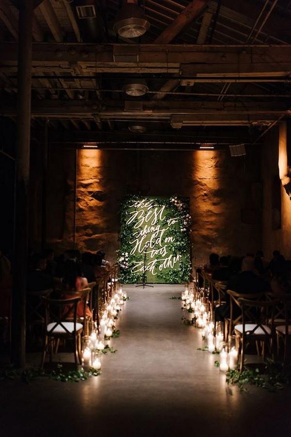 budget friendly industrial wedding ceremony ideas
