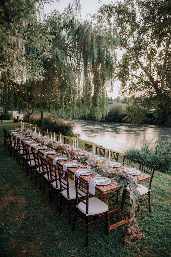 simple chic siver side wedding reception ideas