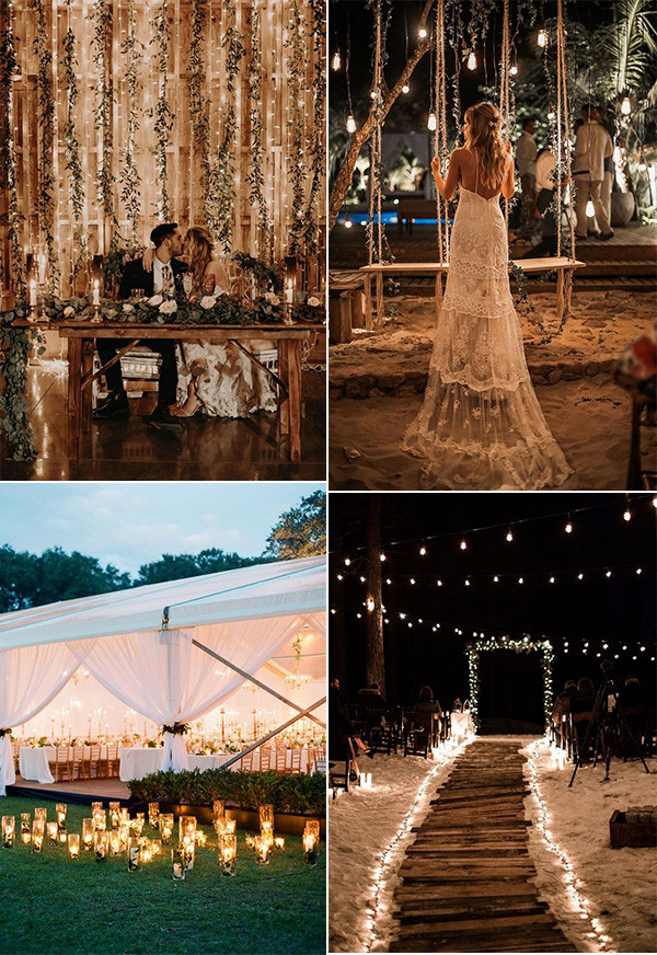trending wedding ideas with lights for 2020